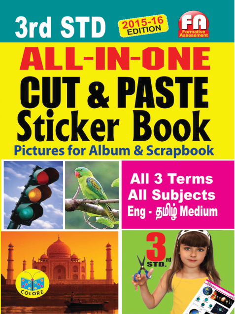 All in One Cut & Paste Sticker Book