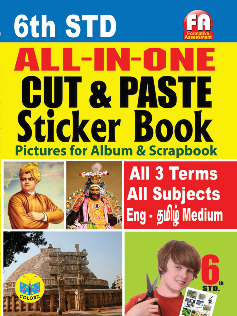 All in One Cut & Paste Sticker Books