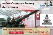 Ordnance Factory OFB Trade Apprentice Vacancy 2017 – ITI & Non ITI Candidates Posts