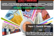SURA'S Answers – Civil Services Preliminary Exams 2016 : Indian Geography– Download as PDF