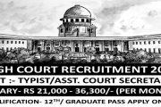 Karnataka High Court Recruiting Typist, Asst. Court Secretaries Job Posts 2017