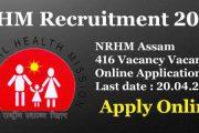 NHM Assam Recruiting Consultant, Rehabilitation Worker Job Posts 2017