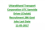 UTC Recruiting Driver Job Posts 2017