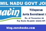 Villupuram Aavin Recruitment 2017 06 Driver Posts