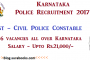 KSP Recruiting Civil Police Constable Job Posts 2017