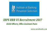 IBPS RRB VI Recruitment 2017 15332 Officers, Office Assistant Posts