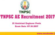 TNPSC 21 Recruiting Assistant Engineer (AE) Agricultural Engineering 2017