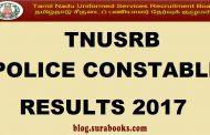TNUSRB Constable, Jail Warders, Firemen  Result & Cut Off 2017