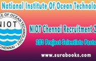 NIOT Chennai Recruitment 2017 203 Project Scientists Posts