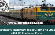 Northern Railway Recruitment 2017 4434 JE, Trackman Posts