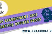 UPSC Recruitment 2017 64 Scientific Officer Posts