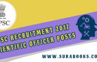 UPSC Recruitment 2017 64 Scientific Officer Posts